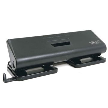 RAPESCO HOLE PUNCH 4-HOLE PUNCH 16 Sheet Capacity- All Metal Construction Black